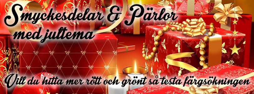 pärlor smyckesdelar jul