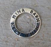 Affirmationsring silverfärgad - Mina Barn, 23 mm 1 styck