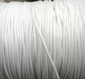 Vaxad Polyestertråd - Vit, 1mm, 1 meter