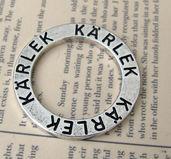 Affirmationsring silverfärgad - Kärlek, 23 mm 1 styck