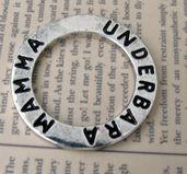 Affirmationsring silverfärgad - Underbara Mamma, 23 mm 1 styck