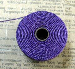 S- Lon bead cord - Plum, 1 rulle