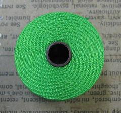 S- Lon bead cord - Neon Green / Neon Grön, 1 rulle