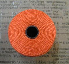S- Lon bead cord - Neon Orange, 1 rulle