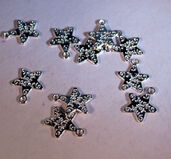Stjärna antiksilverfärgad - Just for you 10 st