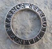 Affirmationsring silverfärgad - Forever, 23 mm 1 styck