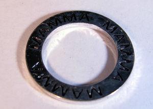 Affirmationsring silverfärgad - Mamma, 23 mm 1 styck
