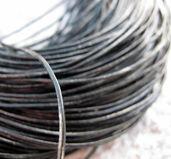 Läderband ca 1 mm - svart, 1m